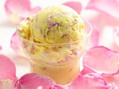 Rose Petal Ice Cream  Enjoy the flavor of rose in this delicious ice cream – a perfect frozen dessert.