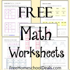 Today we are offering free math worksheets for homeschool math from one of our new free homeschool printables contributors, Lauren Hill. Before you download