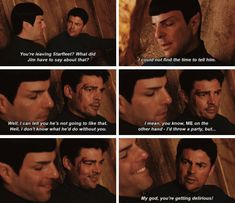 Star Trek Beyond || Bones & Spock --- It made me so incredibly happy that they had more of those two together in this movie. They are my favorite friendship from TOS!