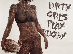 "Personalised ""Dirty Girls Play Rugby"" Poster, in Personalised Sporting Rugby Gifts in Gifts by Theme, Click and Go Gifts - UK Personalised Gifts"