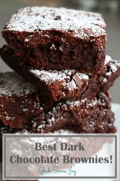Best Dark Chocolate Brownie Recipe - GrabSomeJoy.com