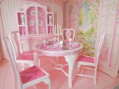 Barbie Fashion Dining Room Set #9478, 1984 MADE IN U.S.A. Dream Furniture Collection | Flickr - Photo Sharing!