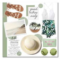 """""""Playing in the Sun - contest"""" by maki007 ❤ liked on Polyvore featuring Urban Decay, Billabong, Urban Outfitters, Victoria, Victoria Beckham, T-shirt & Jeans, contest, white, sun, GREEN and beach"""