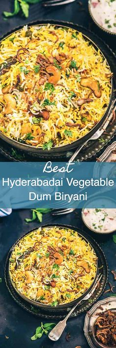 Hyderabadi Vegetable Dum Biryani is a delicious medley of succulent vegetables, spices, ghee, saffron and flavourful basmati rice which no one can resist. Indian I Rice I Biryani I veg I Vegetable I vegetarian I Easy I Simple I quick I Perfect I Authentic Veg Recipes, Indian Food Recipes, Pasta Recipes, Vegetarian Recipes, Cooking Recipes, Vegetarian Biryani, Recipies, Vegetable Biryani Recipe, Veg Biryani Recipe Indian