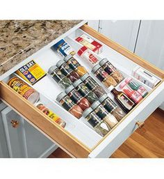 New Expand-A-Drawer Spice Organizer Holds Up To 36 Bottles #DialManufacturing