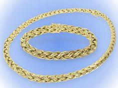 Kette & Armband: hochwertiges Schmuckset, Markenschmuck, Goldschmiedearbeit, Neupreis ca. 10.000€