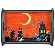 "Halloween serving tray ""Fright of your Life"""