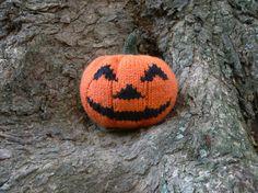 Knitted pumpkin Halloween