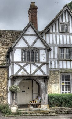 Entrance to house in Lacock Village, Wiltshire