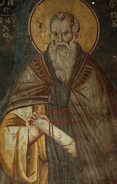 Фотография Orthodox Icons, Byzantine, Saints, Medieval, Painting, Prayers, Men, Fresco, Painting Art