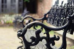 Antique Garden Bench in Charleston South Carolina  by StephsShoes