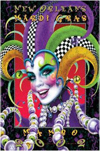 Andrea Mistretta Mardi Gras Poster 2002