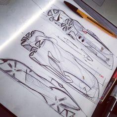 Sketch Ferrari by Mehdi kerkouche