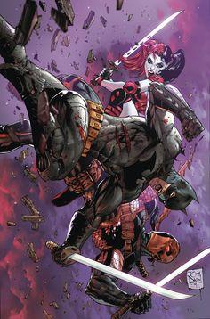 Deathstroke #5 - Batman and Harley Quinn by Tony Daniel *