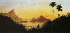"""Lagoa Rodrigo de Freitas"".  (c.1884) # Rio de Janeiro, Brasil. (by Nicola Antônio Facchinetti)."