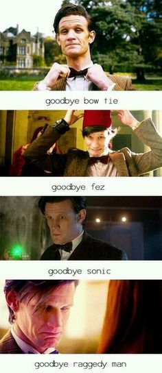 "Goodbye Matt Smith. // i literally whimpered ""nooo"" while reading this."