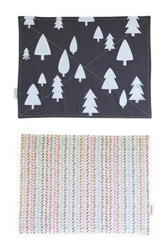 Holiday place mats from Satsuki Shibuya via Design Sponge