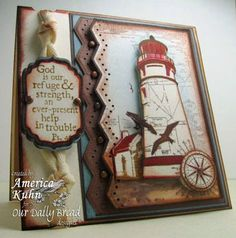 Keep my Lamp Burning - God is strength-odbd-light-house copy by Cards By America - Our Daily Bread designs Gallery