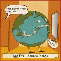 Science cartoons, science humor and geology comics