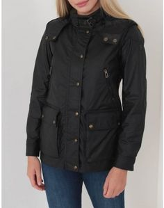 Belstaff's New Tourmaster jacket in black has a short length that sits the waist with a detachable hood, throat buckle and a zip and press stud fastening single breasted front. Summer Is Coming, Belstaff, Coats For Women, Military Jacket, Looks Great, Rain Jacket, Windbreaker, Raincoat, Denim