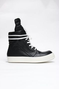 Rick Owens all black Geobasket Trainer