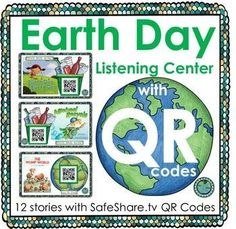 An Earth Day themed Listening Library:Included are 12 stories with SafeShare. Perfect for your Daily 5 center rotations, Read to Self or Listen to Reading stations. Great for whole group guided reading or small group reading comprehension. Reading Stations, Literacy Stations, Literacy Centers, Earth Day Activities, First Grade Activities, Holiday Activities, Listen To Reading, Guided Reading, Daily 5 Centers