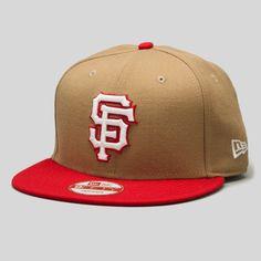 Upper Playground - SF Giants New Era Snapback Cap in Khaki/Red