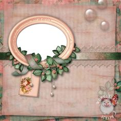 Vintage Floral Shabby for Baby, Family Heritage, or Wedding Scrapbooking Layouts - Wonderland Scraps