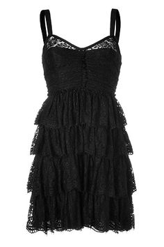 DOLCE & GABBANA Black Tiered Lace Dress Black $750  http://hollyrotic.mybigcommerce.com/dolce-gabbana-black-tiered-lace-dress-black-750-redeiced-from-1200/