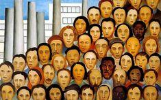 Operários, 1933 - Tarsila do Amaral. Arte Naíf, Realismo Social