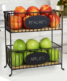 This Chalkboard Two-Tier Basket is perfect! #zulilyfinds