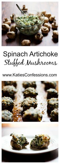Try this spinach artichoke stuffed mushrooms at your next football gathering! @SamsClub @hlmsmag #SamsClubMag #ad