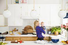 emily henderson's gorgeous white and gold kitchen!