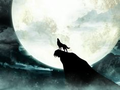 Howling Wolf Moon Wallpaper