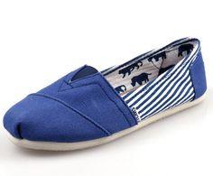 Toms Classics Women Blue Shoes Outlet Sale