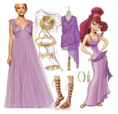 """""""megara"""" by antonella-iovino ❤ liked on Polyvore featuring Disney, WithChic, ASOS, Marcel Boucher, NOVICA, Johnny Loves Rosie, Humble Chic and Ross-Simons"""