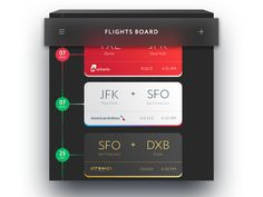 Flights Board by Nick Stepuk - Dribbble