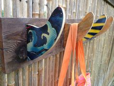 Surfboard Fin Hook Rack by CoastalReLife on Etsy, $25.00