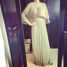 Goldish one mood ) dress by OC fashion design . Free size . EID collection . Price :  AED - 950 USD - 260 EUR - 230 GBP - 185 SAR - 970 KWD - 80
