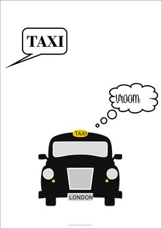 Poster London Taxi   Poster de Papel   Elo7