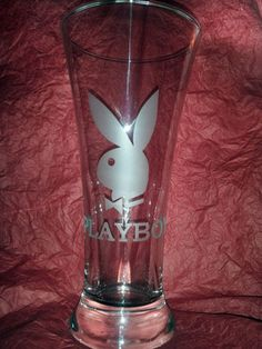 Etched Playboy Bunny Pilsner Beer Glass | eBay