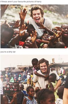 For sure! The Africa pics of him are just incredible. He's so HAPPY!! You can see it in his eyes that he loves the kids. Fangirl mode activated.... I'm dead. It's just....augh! So precious!