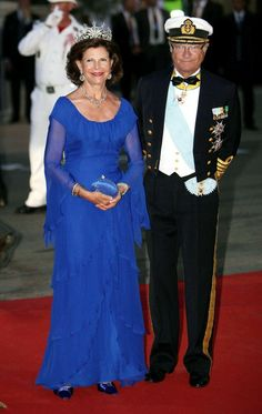 Sweden's Queen Silvia and King Carl Gustaf XVI