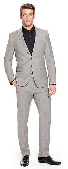 Hugo Boss Aeron/Hamen   Slim Fit, Super 100 Virgin Wool Suit - Light/Pastel Grey on shopstyle.com