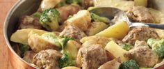 This skillet supper has it all, with meatballs blended with a creamy sauce and potatoes, plus a healthy dose of broccoli. Save money on groceries…