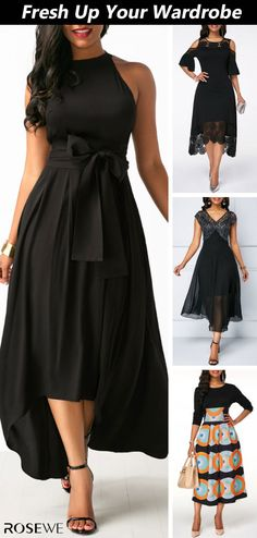 Black Belted Asymmetric Hem Dress and Cardigan. Choose your favorite spring outf. Black Belted Asymmetric Hem Dress and Cardigan. Spring Fashion Outfits, Fashion Dresses, Black Dresses Online, Dress With Cardigan, Black Cardigan, Elegantes Outfit, Ruched Dress, Mode Outfits, Asymmetrical Dress