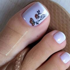 Pretty Toe Nails, Cute Toe Nails, Pretty Toes, Pedicure Nail Art, Toe Nail Art, Acrylic Nails, Nail Nail, Feet Nail Design, Toe Nail Designs