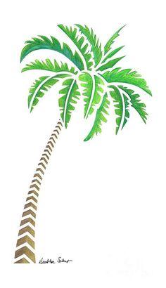 Palm Tree Sketch, Palm Tree Drawing, Palm Tree Art, Palm Tree Leaves, Tree Sketches, Palm Trees, Beach Drawing, Desert Drawing, Tree Tree