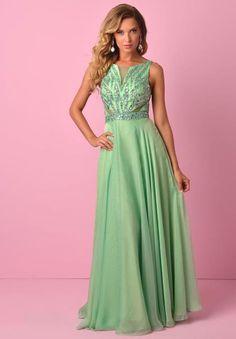 Splash Chiffon A Line Dress J363