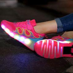 Chaussures À Roulettes Led Avec Des Ailes